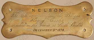 Nelson plaque- dog saved from Henry Cooke