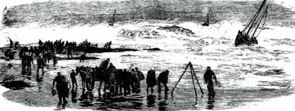 engraving of a rescue